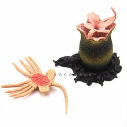Wholesale Alien Predator Figures - 4.5 Inch KAIYODO ALIEN VS PREDATOR AVP CAPSULE Q FACE HUGGER EGG FIGURE STATUE Action Figure Toy M162