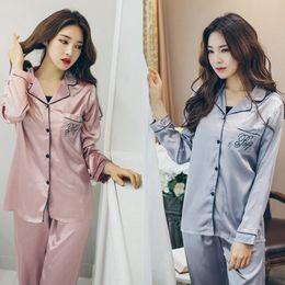 Wholesale Shirts Sleepwear - Women silk nightwear pyjamas nature silk home clothing sleeve winter sleepwear soft skin care high quality factory wholesale free shipping
