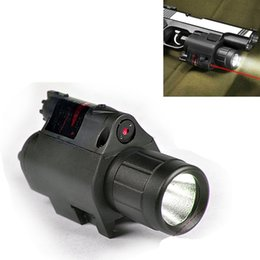 Wholesale Sight Handgun - Tactical Compact Rail Mounted RED Laser Sight with 200 Lumen LED Flashlight for Pistol   Gun Handgun Glock 17 19 22 20 23 31 37