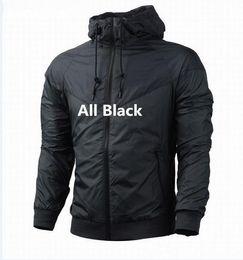Wholesale Thinnest Fabrics - Free shipping Fall thin windrunner Men Women sportswear high quality waterproof fabric Men sports jacket Fashion zipper hoodie