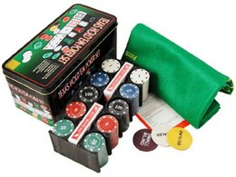 Wholesale Wholesale Bargains - NEW Texas Holdem Poker Set Casino Gambling Game Chips Bargaining Chip Bar Party Games