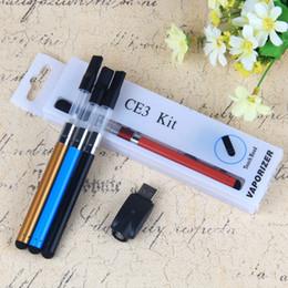 Wholesale Mini Blister Kit - Mini CE3 Blister Kit O PEN Oil Atomizer CE Vaporizer 280mAh Bud Touch Battery Ce3 E Cigarette Blister Kits