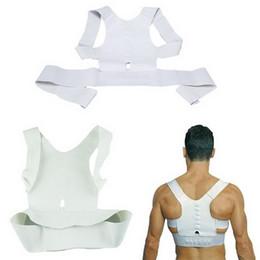 Wholesale Shoulder Back Posture - Health Care Adjustable Braces Supports Body Posture Corrector Belt Magnetic Back Posture Support Care Shoulder Corrector ZA2040