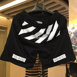 Wholesale Womens Army Green Pants - Summer Kanye West Mens womens fashion Shorts 2017 off white Pyrex Hip Hop casual streetwear short pants High Quality