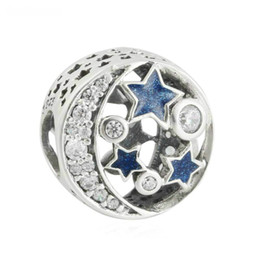 Wholesale Cheap Pandora Beads - Cheap star charms beads original authentic S925 sterling silver beads fits pandora Jewelry bracelets free shipping CH621