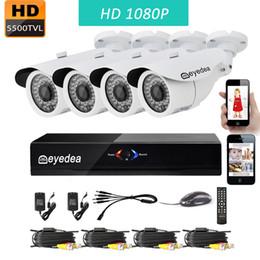 Wholesale Cctv Ch Camera - Eyedea 8 CH 1080P Lite Remote View WiFi DVR Video Surveillance NVR Recorder 2.0MP Outdoor Night Vision CMOS Home CCTV Security Camera System