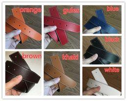 Cintura uomo 7 colori con fori senza fibbia Cintura donna design in pelle 3,7 centimetri Cintura fibbia larga liscia per uomo Ceinture da fibbie senza perni fornitori