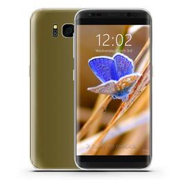 Wholesale Micros 32gb - New 1GB 4GB+32GB Goophone S8 3G WCDMA 5.5 inch IPS 960*540 qHD Curved Screen Quad Core MTK6580 Android 7.0 GPS WiFi Nano-Sim Card Smartphone