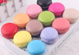 Wholesale Bread Mixes - 40pcs -5cm Macaron squishy soft pu colorful round bread Cell Phone Straps model fashion party gift mix color order