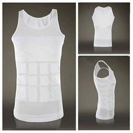 Wholesale Fat Buster - Wholesale- Men's Body Shaper Shirt vest waist girdle buster slim tank fat belly 2 colors GL
