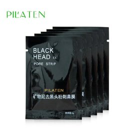 Wholesale Deep Cleansing Pore Strips - 3200pcs  Lot PILATEN Suction Black Mask Face Care Mask Deep Cleaning Tearing Style Pore Strip Deep Cleansing Nose Acne Blackhead Facial Mask