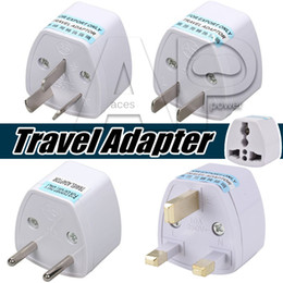 Wholesale Travel Adaptors Uk - Universal Power Adapter Travel Adaptor AU US EU UK Plug Charger Adapter Converter 3 Pin AC Power For Australia New Zealand