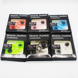 Wholesale Smart Clip Box - Fling mini Mobile Joystick Dual analog joysticks Smart Clip for samrtphone gaming iPad pod Touch iPhone 7 with Retail Box