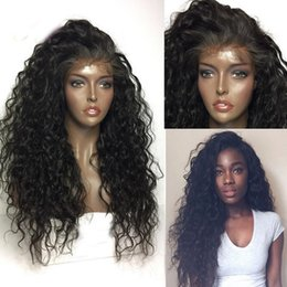 Wholesale Density Peruvian Hair - 180 Density Full lace Wig With Baby Hair Bleached Knots 100% Human Hair Lace Front Wig Full Lace Human Hair Wigs Black Women
