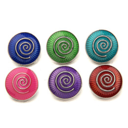 Argentina 2017 new round 18MM NOOSA Snap Buttons Buckle Fit For Noosa Charm Bracelets necklace Jewelry DIY Accessories Suministro