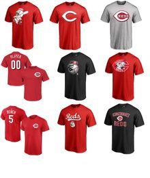 Wholesale Black Scooters - 2017 MLB Cincinnati Reds 5 Johnny Bench 4 Scooter Gennett 19 Joey Votto 3 Patrick Kivlehan 6 Billy Hamilton Name & Number T-shirt