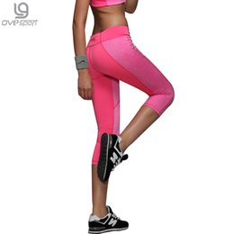 Wholesale Time Trousers Sexy - Wholesale- Sexy Women's Skinny Workout Leggings Light Reflecting Fitness Trousers Adventure Time Exercise Pants Capri Movement Leggins 1025