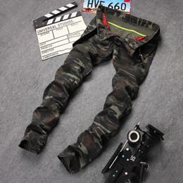 2017 Hommes Jeans Denim Biker Pantalons Marque Célèbre Camouflage Jeans Hommes Pensil Pantalon Designer Militaire Style Skinny Jeans D'armée ? partir de fabricateur
