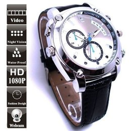 Wholesale hd ir watch - 32GB HD 1080P Waterproof Wearable Wrist Watch With Mini Camera DVR IR Night Vision Video Recorder