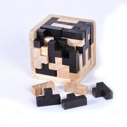 Wholesale Mini Brain - Educational Wood Puzzles For Adults Kids Brain Teaser 3D Russia Ming Luban Educational Kid Toy Children Gift Baby Kid's Toy