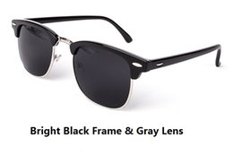 Wholesale Brand Inspired - Half Metal Sunglasses Men Women Brand Designer Inspired Club Elegant Star Master Mirror Sun Glasses Gafas Oculos De Sol M107