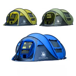 beach tents Coupons - Wholesale- HUILINGYANG Huge space 3-4 person automatic speed open throwing pop up windproof waterproof beach fishing outdoor camping tent