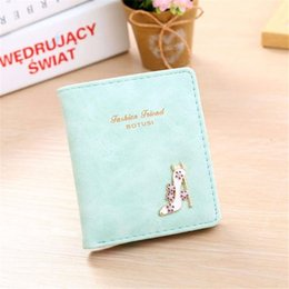 Wholesale Cheap Ladies Passport Wallet - Wholesale- New Small Designer Slim Women Brand Wallet Thin Hasp Ladies PU Leather Coin Purses Female Purse Mini Clutch Cheap Womens Wallets