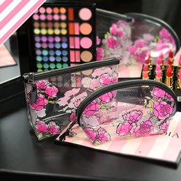 Wholesale Transparent Beauty Cases - New Women Cosmetic Bag Organizer Transparent Makeup Case Waterproof Travel Beauty Case Storage Bags Free Shipping victoria's