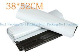 Wholesale Christmas Mail - Wholesale- 30pieces lot EB#5:38x52cm 15x20.5inch Poly mailer white poly mailing envelope poly post courier Online shipping express bags