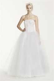 Wholesale Pink Hand Cuffs - 2017 Hand Beading Tulle Wedding Dress with Corseted Satin Bodice NT8017 Cuff Neckline Soft Tulle Gowns For Bridals