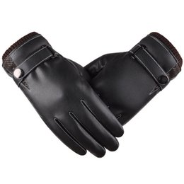 Wholesale Warm Windproof Mittens - Wholesale- New Arrival Soft Touching Screen Gloves Men Warm Motorcycling Windproof Mittens Male Thermal Thicken Gloves Black