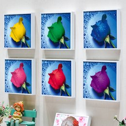 Wholesale cm paint - Diamond Painting 3D DIY Needlework Kit No Fading Cross Stitch Drip Water Rose Sticking Drill Paintings Bedroom Decor 4 5zs F R