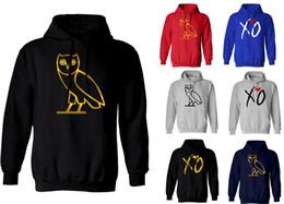 Wholesale S Owl - Drake Ovoxo Owl XO The Weeknd off white Hoodies Men thick loose large size hoodies sweater jacket kanye west pablo Sweatshirt Hoodie.