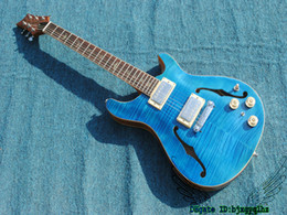 Wholesale guitar reed - Best High Quality Blue Flame Hollow Reed Electric Guitar Wholesale Guitars From China