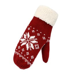 Wholesale Thick Wool Elastic - FELLING WELL Lady Winter Warm Super Thick Soft Elastic Double Knitted Wool Riding Working Protection Mittens