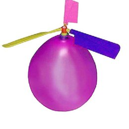 Wholesale Helicoptero Gas - Wholesale-1pc(1 balloon 3 gas leaf 1 tee 1gas nozzle)Traditional Classic Balloon Airplane Helicopter Kid Child Party Bag Filler Flying Toy