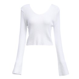Wholesale White Cardigan Sweaters For Women - Chic V-neck Long Sleeve Pure Color Warm Short Sweater for Ladies