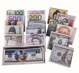 Wholesale Euro Holder - Fashion New mens pu wallets different euro dollar pattern print chic purse wallet for men and students