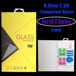 Wholesale Lg Spirit Glass - For LG X-POWER X-CAM X-SCREEN X-POWER 2 X-SKIN V10 Spirit ZERO BELLO 2 ZONE MAX Tempered Glass screen protector with retail package