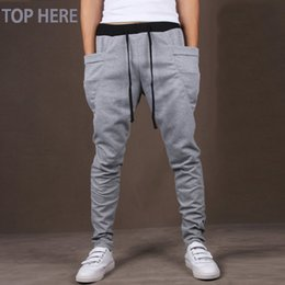 Wholesale Wholesale Hip Hop Men Clothing - Wholesale-Men Boy Casual Pants Hot Sale Hip Hop Pants Fitness Clothing Jogger Sweatpants Fashion Trousers
