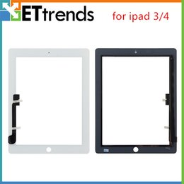 Wholesale Touch Pannel - Digitizer Touch Screen Pannel Touch Only Glasstop for iPad 3 4 Tested One by One DHL Free Shipping