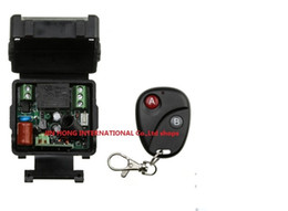 Wholesale Ch Switches - Wholesale-AC 220 v 1 ch RF wireless remote control switch 1 pics receiver +1 pics transmitter With 2 buttons A for ON and B for OFF