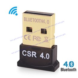 Wholesale Usb Bluetooth Music Receiver - Wireless USB Bluetooth Adapter V4.0 Bluetooth Dongle Music Sound Receiver Adaptador Bluetooth Transmitter For Computer PC Laptop