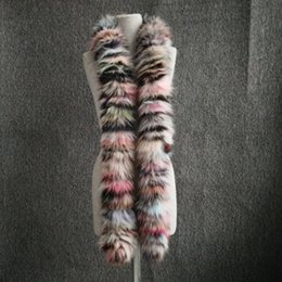 Wholesale Polar Long - New Arrival Women Winter Scarves Multicolor Real Fox Fur Long Scarf New Style Natural Fox Fur Wraps Winter
