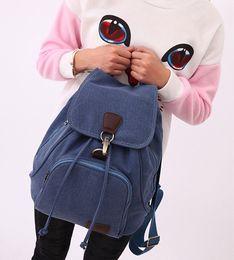 Wholesale Bolsas Backpack - 2017 NEW Women canvas backpack preppy style school Lady girl student school laptop bag mochila bolsas ZDD6294