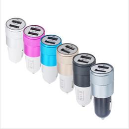 Два автомобильных зарядных устройства онлайн-Бренд NOKOKO лучший металл двойной USB порт автомобильное зарядное устройство универсальный 12 Вольт / 1 ~ 2 ампера для Apple iPhone iPad iPod / Droid NokiaDHL