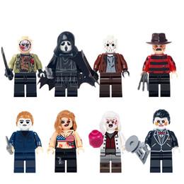 building blocks minifigures action bricks the horror theme black friday jason scream killer freddy krueger kids