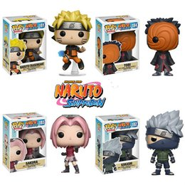 Wholesale Naruto Big - Original Funko Pop Japan Anime Naruto Sakura Tobi Kakashi Garage Kit For Fan Holiday Gift And Car Decoration