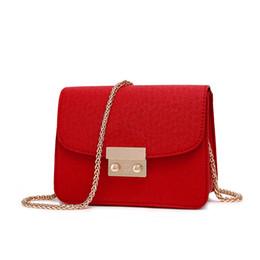 Wholesale Girls Small Leather Handbag - Fashion Chains Leather Women Shoulder Bags Female Designer Brand Handbag Lady High Quality Mini Purses Girls Solid Small Crossbody Bag