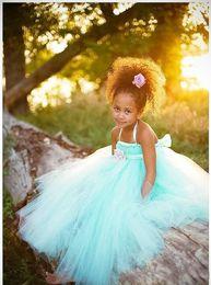 Wholesale Light Blue Discount Graduation Dresses - The new 2017 children blue flower skirt flexible pipe discount zou beauty girl dress sleeveless HK4758 flower girl dress